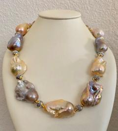 Michael Kneebone Michael Kneebone Pastel Baroque Pearl Granulated Bead Necklace - 1898369