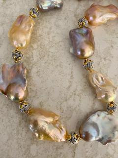 Michael Kneebone Michael Kneebone Pastel Baroque Pearl Granulated Bead Necklace - 1898376