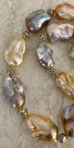 Michael Kneebone Michael Kneebone Pastel Baroque Pearl Granulated Bead Necklace - 1898383