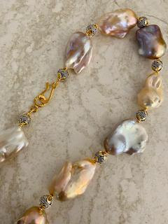 Michael Kneebone Michael Kneebone Pastel Baroque Pearl Granulated Bead Necklace - 1898386