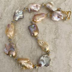 Michael Kneebone Michael Kneebone Pastel Baroque Pearl Granulated Bead Necklace Earring Suite - 1899339