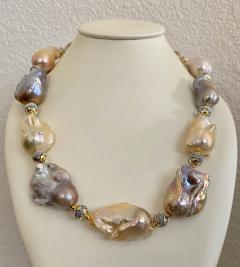 Michael Kneebone Michael Kneebone Pastel Baroque Pearl Granulated Bead Necklace Earring Suite - 1899343