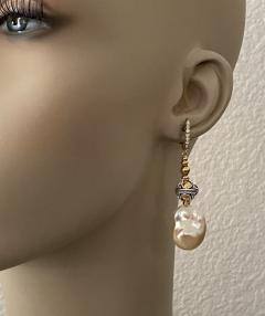 Michael Kneebone Michael Kneebone Pastel Baroque Pearl Granulated Bead Necklace Earring Suite - 1899354
