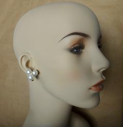 Michael Kneebone Michael Kneebone Pearl Cluster Diamond Dendritic Opal Dangle Earrings - 1247335