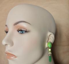 Michael Kneebone Michael Kneebone Peridot Variscite Aventurine Dangle Earrings - 1000875