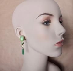 Michael Kneebone Michael Kneebone Peridot Variscite Aventurine Dangle Earrings - 1000881