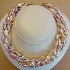 Michael Kneebone Michael Kneebone Pink Ingot Pearl Torsade Necklace - 1082714
