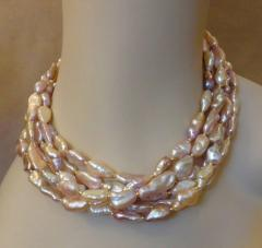 Michael Kneebone Michael Kneebone Pink Ingot Pearl Torsade Necklace - 1082716