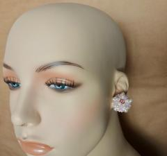 Michael Kneebone Michael Kneebone Pink Sapphire Akoya Pearl Sea Urchin Button Earrings - 1000600