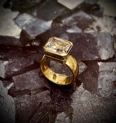 Michael Kneebone Michael Kneebone Radiant Cut White Sapphire Two Tone 18 Karat Leah Ring - 1408475