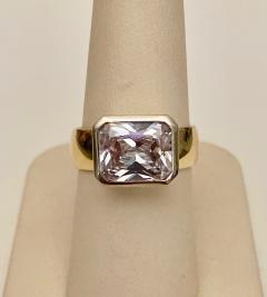 Michael Kneebone Michael Kneebone Radiant Cut White Sapphire Two Tone 18 Karat Leah Ring - 1408477