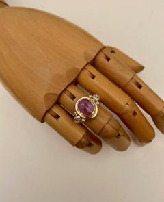 Michael Kneebone Michael Kneebone Rose Cut Pink Sapphire Diamond Archaic Style Cocktail Ring - 1439661