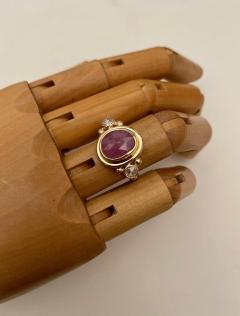 Michael Kneebone Michael Kneebone Rose Cut Pink Sapphire Diamond Archaic Style Cocktail Ring - 1439667