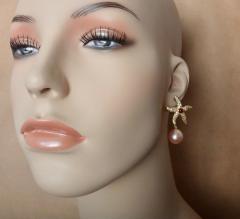 Michael Kneebone Michael Kneebone Ruby Diamond Kasumi Pearl Starfish Earrings - 1166525