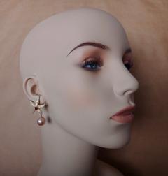 Michael Kneebone Michael Kneebone Ruby Diamond Kasumi Pearl Starfish Earrings - 1166527