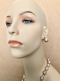 Michael Kneebone Michael Kneebone Sapphire Flame Ball Pearl Necklace Earring Suite - 1583973