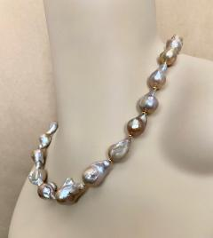 Michael Kneebone Michael Kneebone Sapphire Flame Ball Pearl Necklace Earring Suite - 1583976