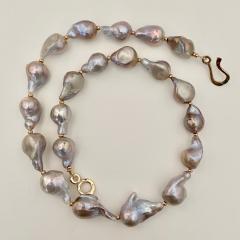 Michael Kneebone Michael Kneebone Sapphire Flame Ball Pearl Necklace Earring Suite - 1583977