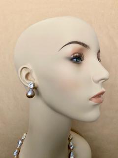 Michael Kneebone Michael Kneebone Sapphire Flame Ball Pearl Necklace Earring Suite - 1583986