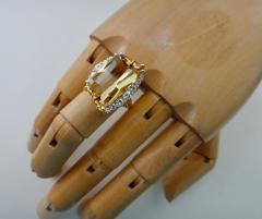 Michael Kneebone Michael Kneebone Scissor Cut Golden Beryl White Diamond Cocktail Ring - 996527