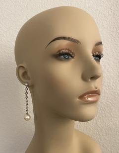 Michael Kneebone Michael Kneebone South Seas Pearl Diamond White Gold Dangle Earrings - 1924785