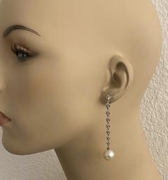 Michael Kneebone Michael Kneebone South Seas Pearl Diamond White Gold Dangle Earrings - 1924793