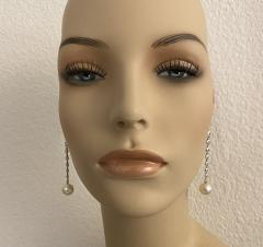 Michael Kneebone Michael Kneebone South Seas Pearl Diamond White Gold Dangle Earrings - 1924795