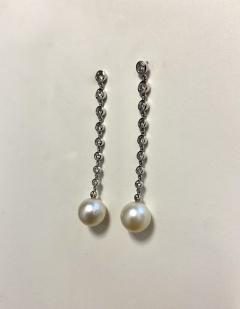 Michael Kneebone Michael Kneebone South Seas Pearl Diamond White Gold Dangle Earrings - 1924796