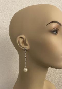 Michael Kneebone Michael Kneebone South Seas Pearl Diamond White Gold Dangle Earrings - 1924797