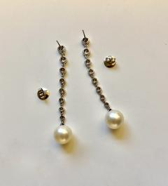 Michael Kneebone Michael Kneebone South Seas Pearl Diamond White Gold Dangle Earrings - 1924798