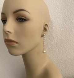 Michael Kneebone Michael Kneebone South Seas Pearl Diamond White Gold Dangle Earrings - 1924799
