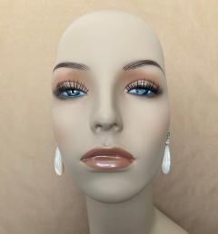 Michael Kneebone Michael Kneebone Tsavorite Garnet Diamond Mother of Pearl Dangle Earrings - 1467336
