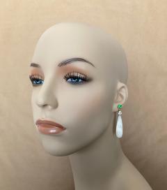 Michael Kneebone Michael Kneebone Tsavorite Garnet Diamond Mother of Pearl Dangle Earrings - 1467338