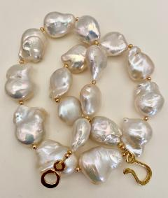 Michael Kneebone Michael Kneebone White Cloud Baroque Pearl Necklace - 1595562
