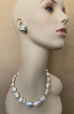 Michael Kneebone Michael Kneebone White Cloud Baroque Pearl Necklace - 1595563