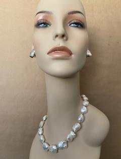 Michael Kneebone Michael Kneebone White Cloud Baroque Pearl Necklace - 1595565