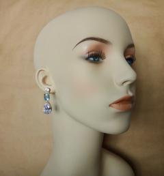 Michael Kneebone Michael Kneebone White Sapphire Blue Zircon White Topaz Dangle Earrings - 1230438