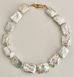 Michael Kneebone Michael Kneebone White Tile Baroque Pearl Bead Necklace - 1963280