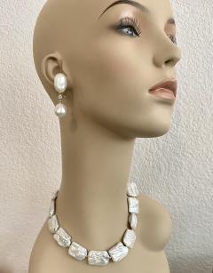 Michael Kneebone Michael Kneebone White Tile Baroque Pearl Bead Necklace - 1963281