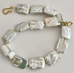 Michael Kneebone Michael Kneebone White Tile Baroque Pearl Bead Necklace - 1963287