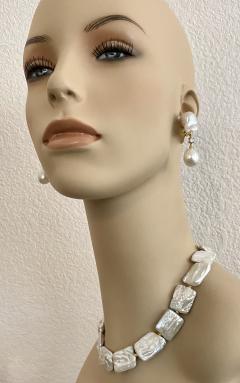 Michael Kneebone Michael Kneebone White Tile Baroque Pearl Bead Necklace - 1963290