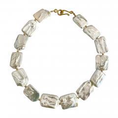 Michael Kneebone Michael Kneebone White Tile Baroque Pearl Bead Necklace - 1965766