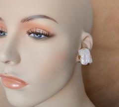 Michael Kneebone Michael Kneebone White Tile Pearl Earring Necklace Suite - 997704