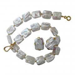 Michael Kneebone Michael Kneebone White Tile Pearl Earring Necklace Suite - 997826