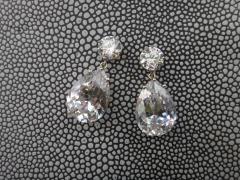 Michael Kneebone Michael Kneebone White Topaz White Sapphire Dangle Earrings - 1276871