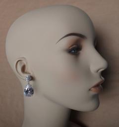 Michael Kneebone Michael Kneebone White Topaz White Sapphire Dangle Earrings - 1276872