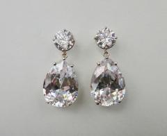Michael Kneebone Michael Kneebone White Topaz White Sapphire Dangle Earrings - 1276873