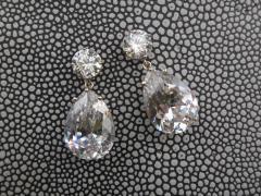 Michael Kneebone Michael Kneebone White Topaz White Sapphire Dangle Earrings - 1276875