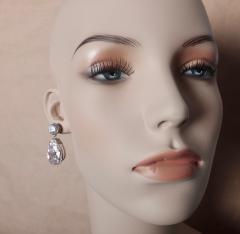 Michael Kneebone Michael Kneebone White Topaz White Sapphire Dangle Earrings - 1276876
