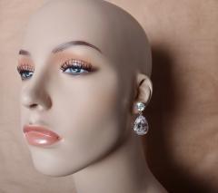 Michael Kneebone Michael Kneebone White Topaz White Sapphire Dangle Earrings - 1276878